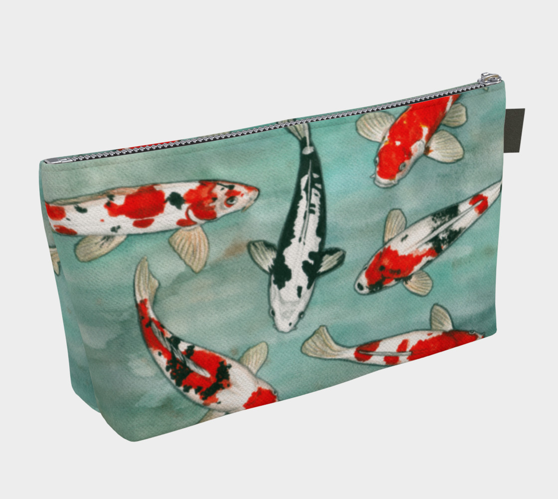 Le ballet des carpes koï Makeup Bag Miniature #3