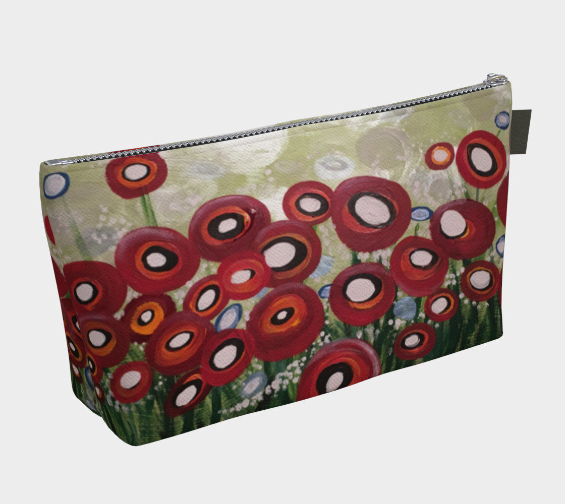 Whimsical Poppy Makeup Bag preview #2