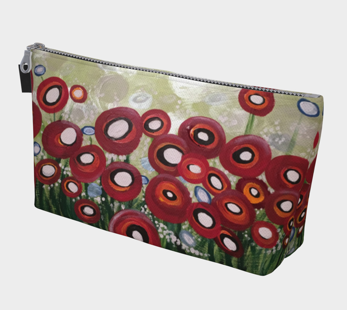 Whimsical Poppy Makeup Bag preview #1