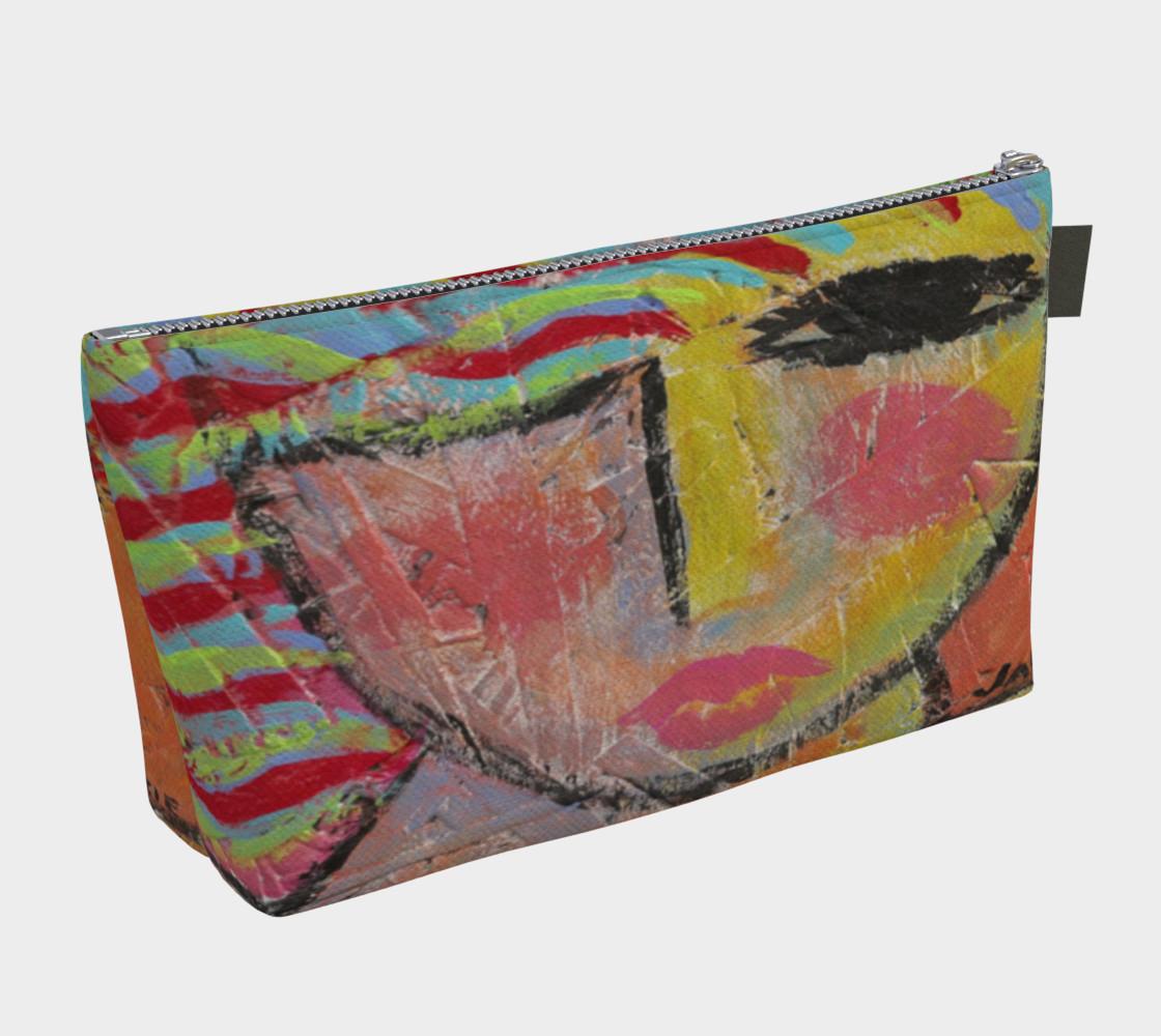 Aperçu de Wild Woman Abstract Art Clutch Bag #2
