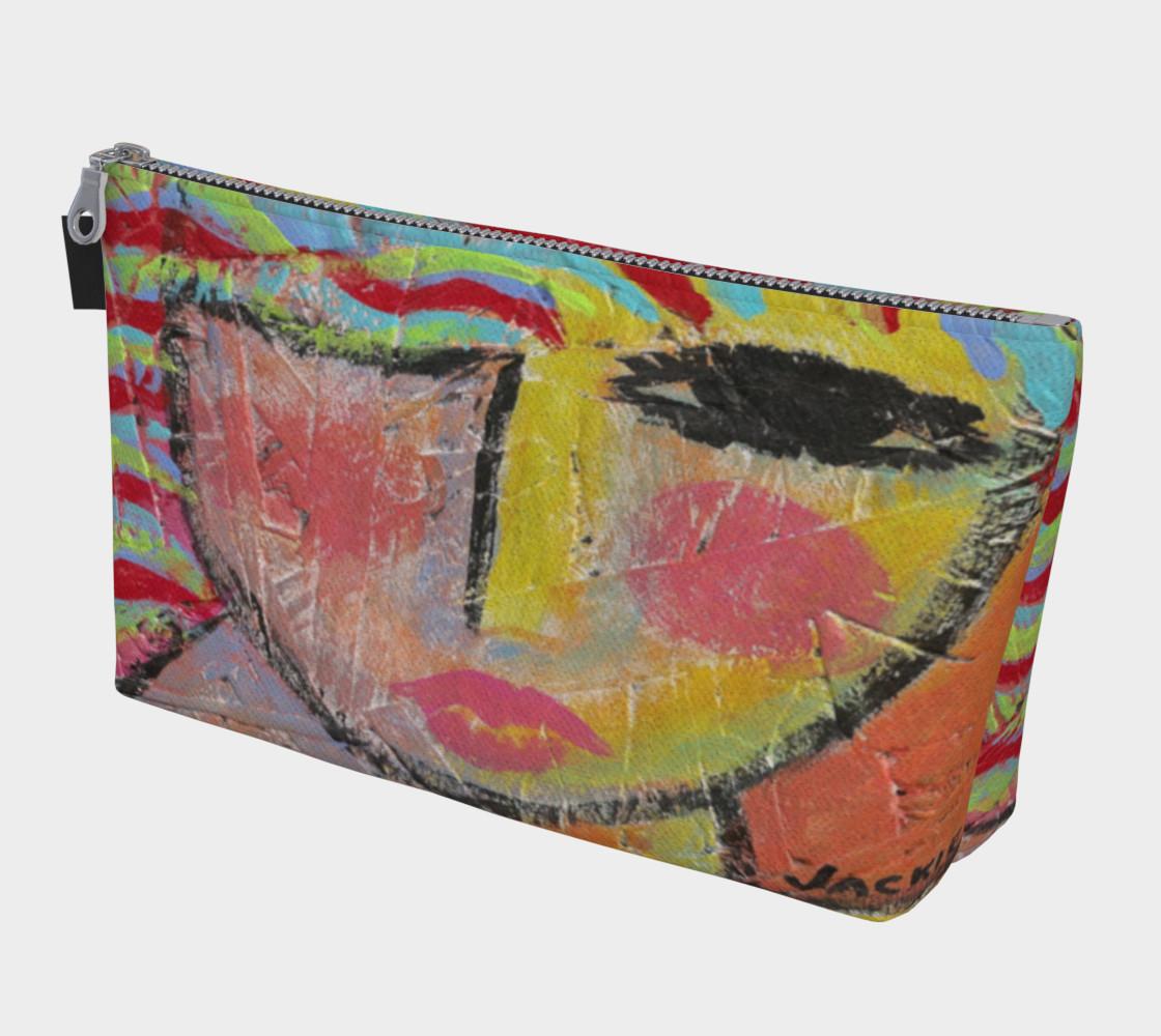 Aperçu de Wild Woman Abstract Art Clutch Bag #1