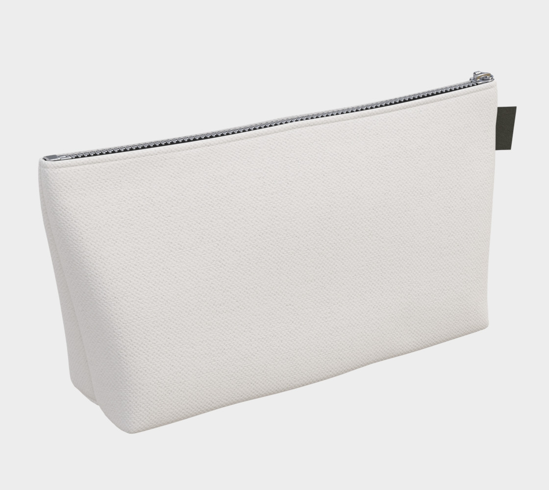 White or Blank Makeup Bag preview #2