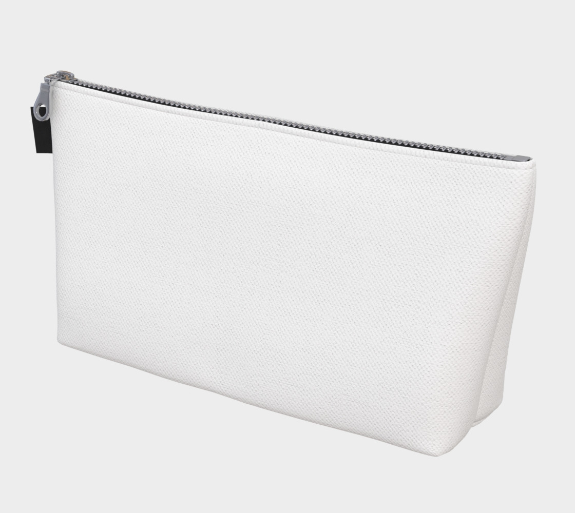 White or Blank Makeup Bag preview #1