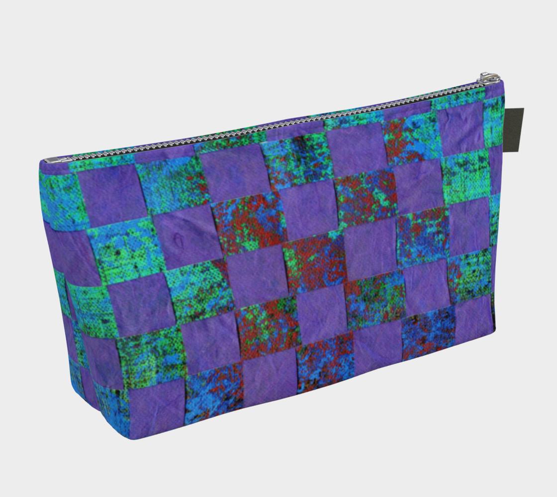 Purple Paper Weaving Makeup Bag preview #2
