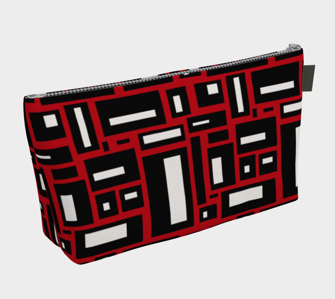 Simple Geometric in Black, White and Red 1 preview #2