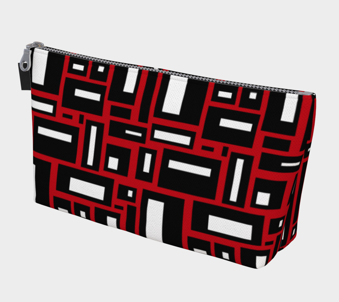 Simple Geometric in Black, White and Red 1 preview #1