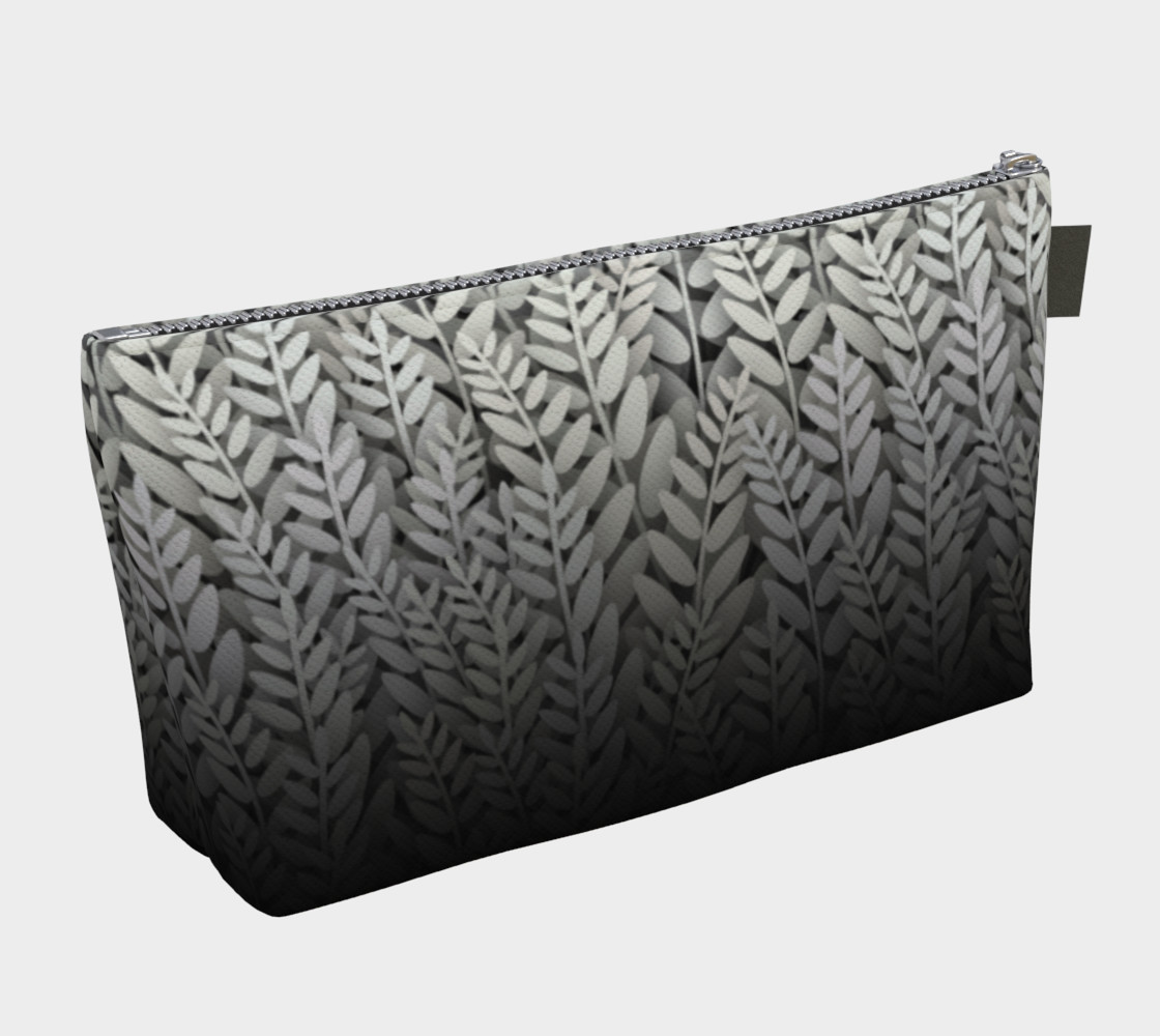 Black and White - Fern Makeup Gear Bag With Pocket preview #2