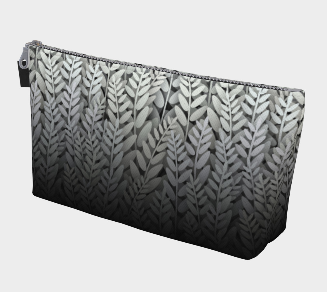 Black and White - Fern Makeup Gear Bag With Pocket preview #1