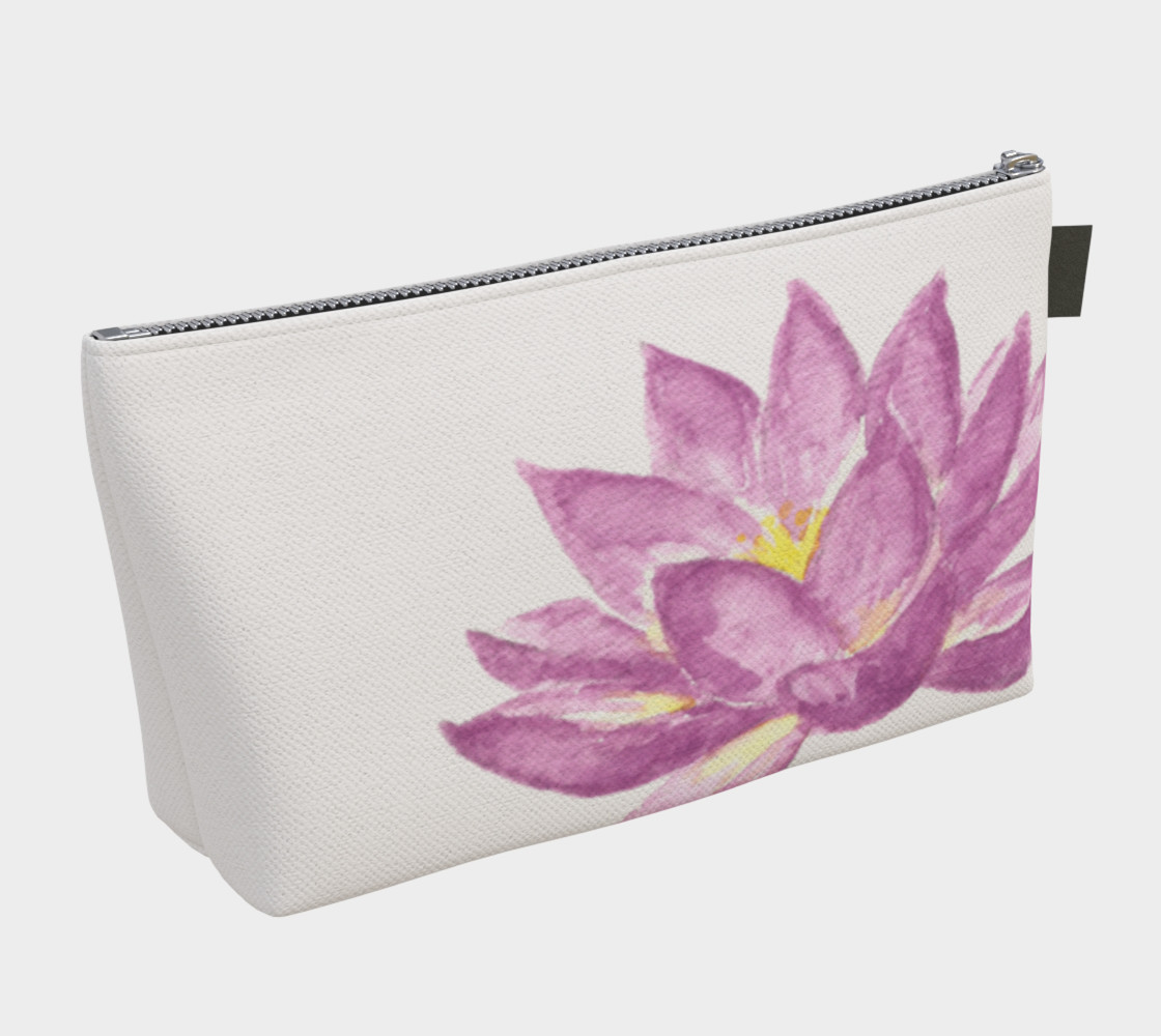 Purple Lotus Flower Makeup Cosmetic Bag preview #2