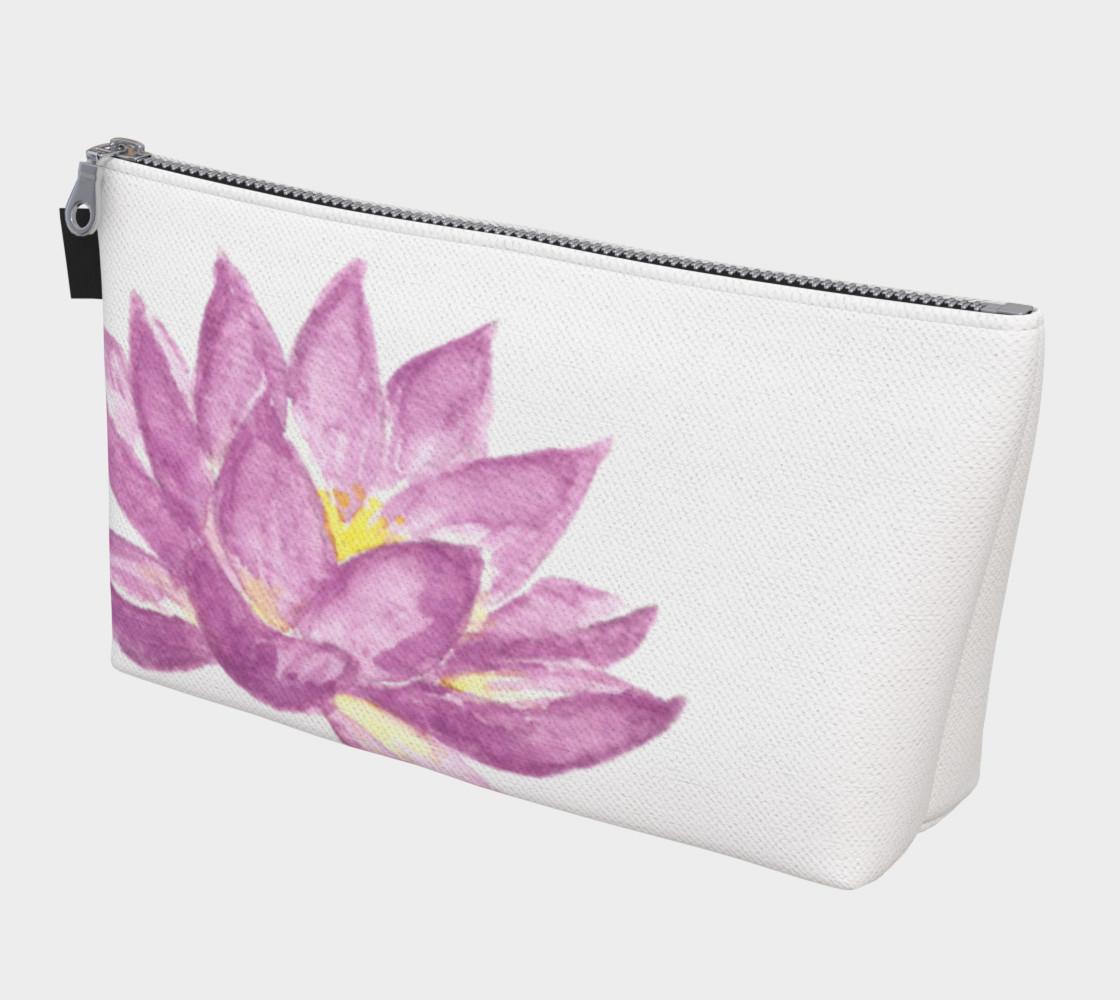 Purple Lotus Flower Makeup Cosmetic Bag preview #1