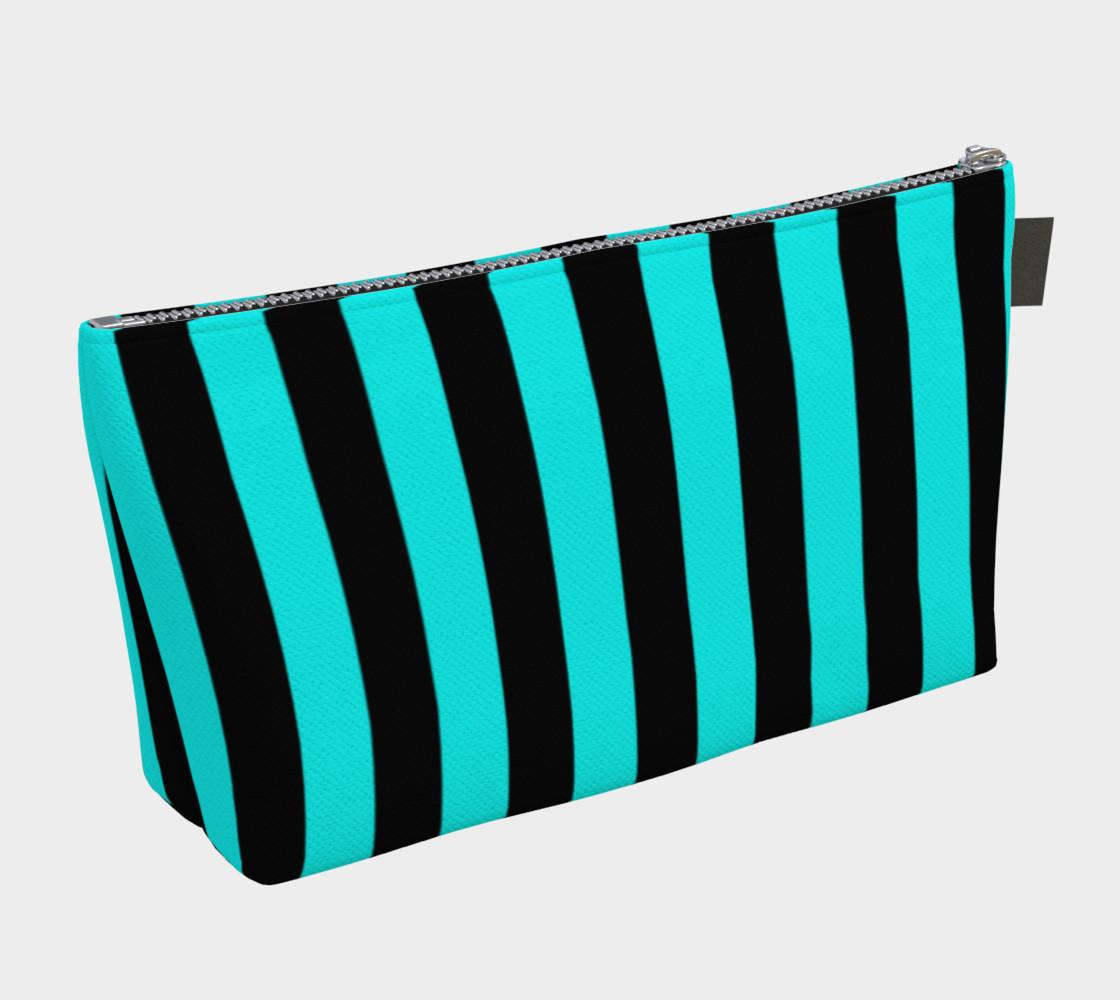 Aperçu de Black and Aqua Blue Stripes #2