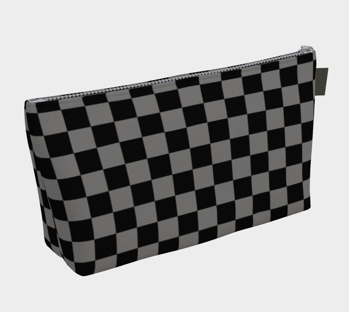 Aperçu de Black and Medium Grey Checkerboard Squares #2