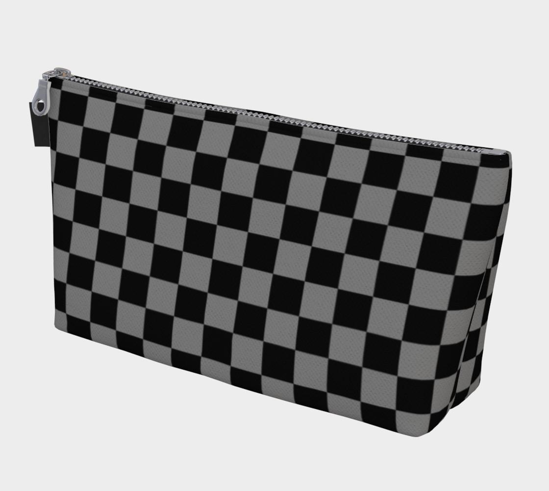 Aperçu de Black and Medium Grey Checkerboard Squares #1