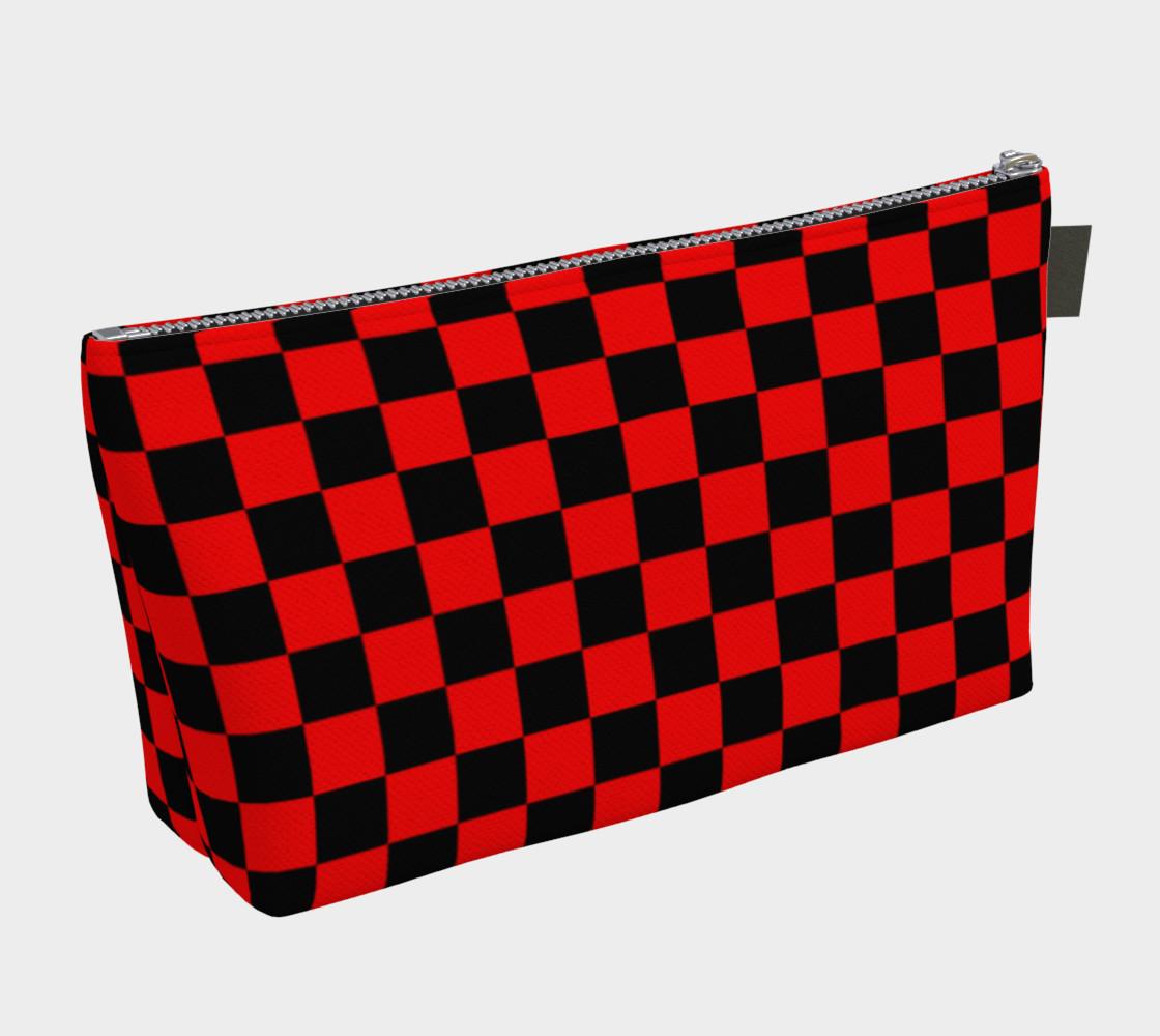 Aperçu de Black and Red Checkerboard Squares #2