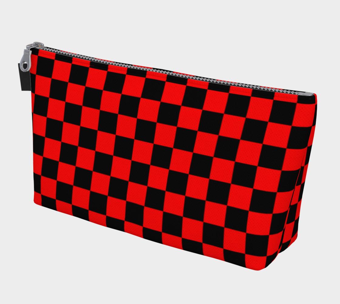 Aperçu de Black and Red Checkerboard Squares #1
