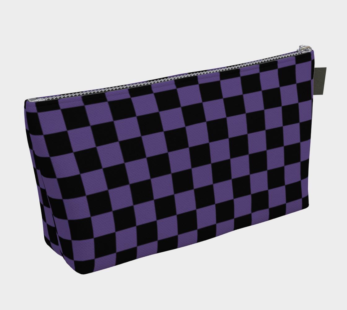 Aperçu de Black and Ultra Violet Purple Checkerboard Squares #2