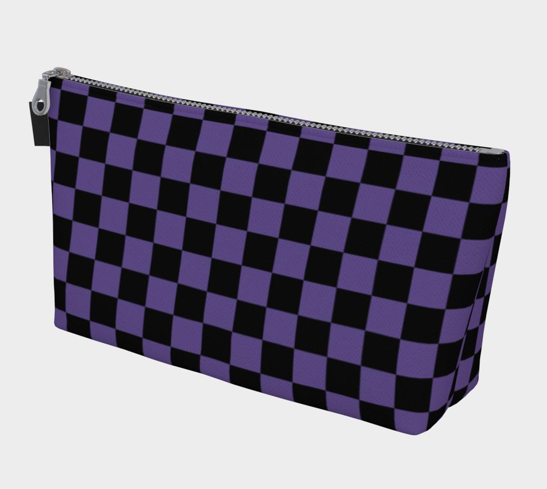 Aperçu de Black and Ultra Violet Purple Checkerboard Squares #1
