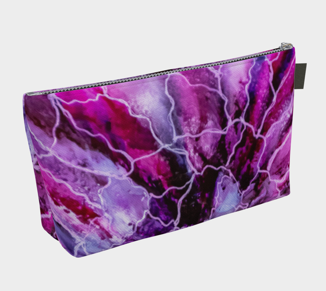 Pink & Mauve Abstract Alcohol Ink Art Bloom  preview #2