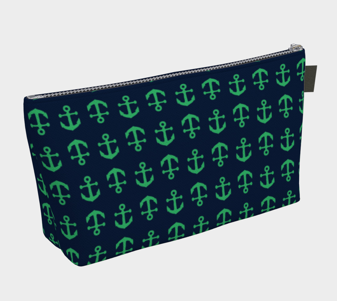 Anchor Toss - Green on Navy preview #2