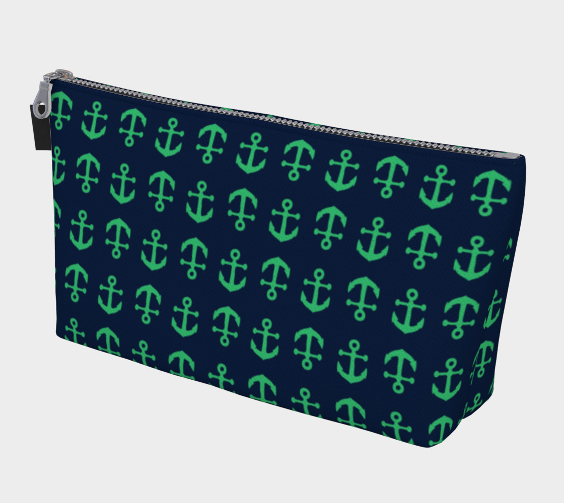 Anchor Toss - Green on Navy preview #1
