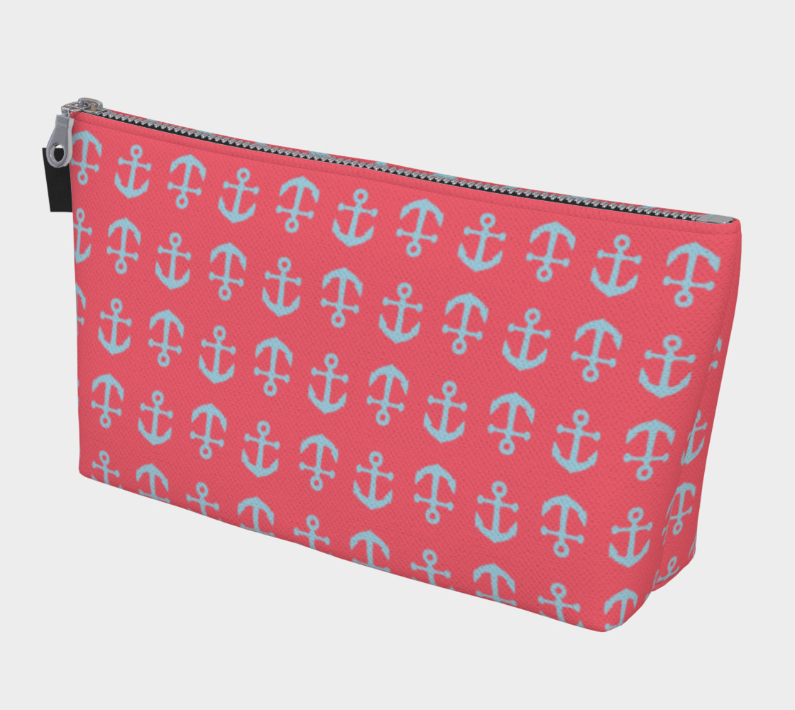 Anchor Toss - Lt Blue on Coral preview #1