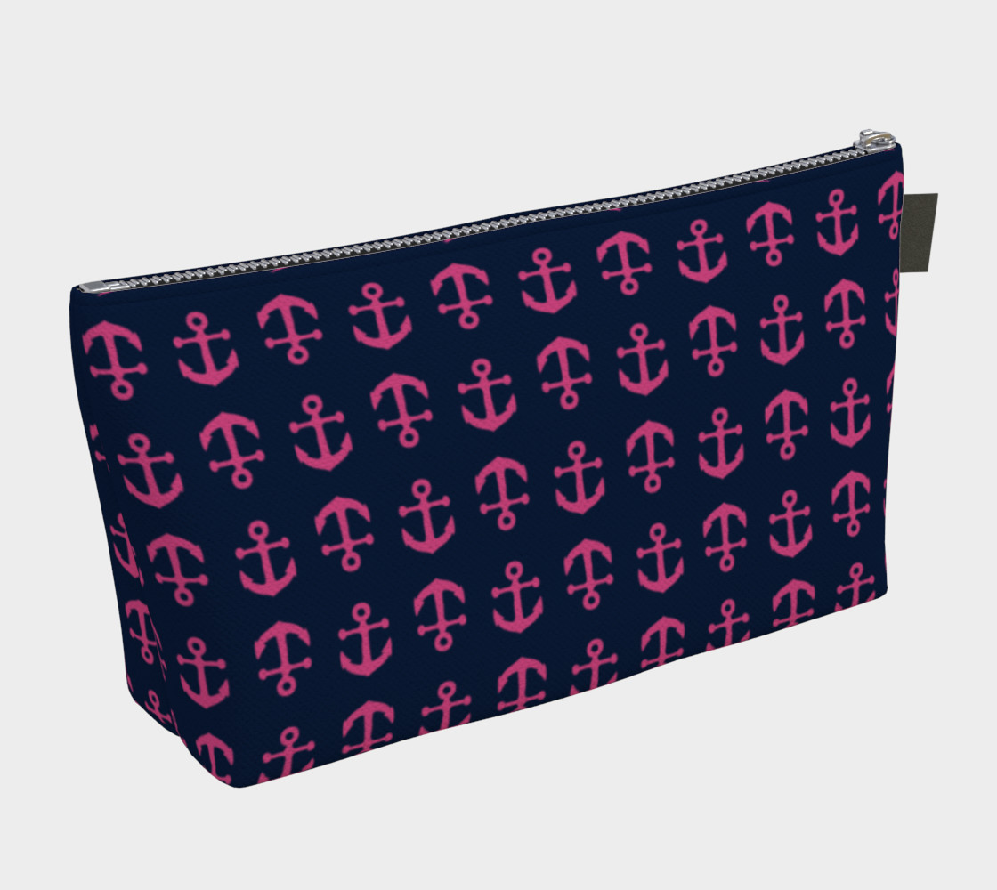 Anchor Toss - Pink on Navy preview #2
