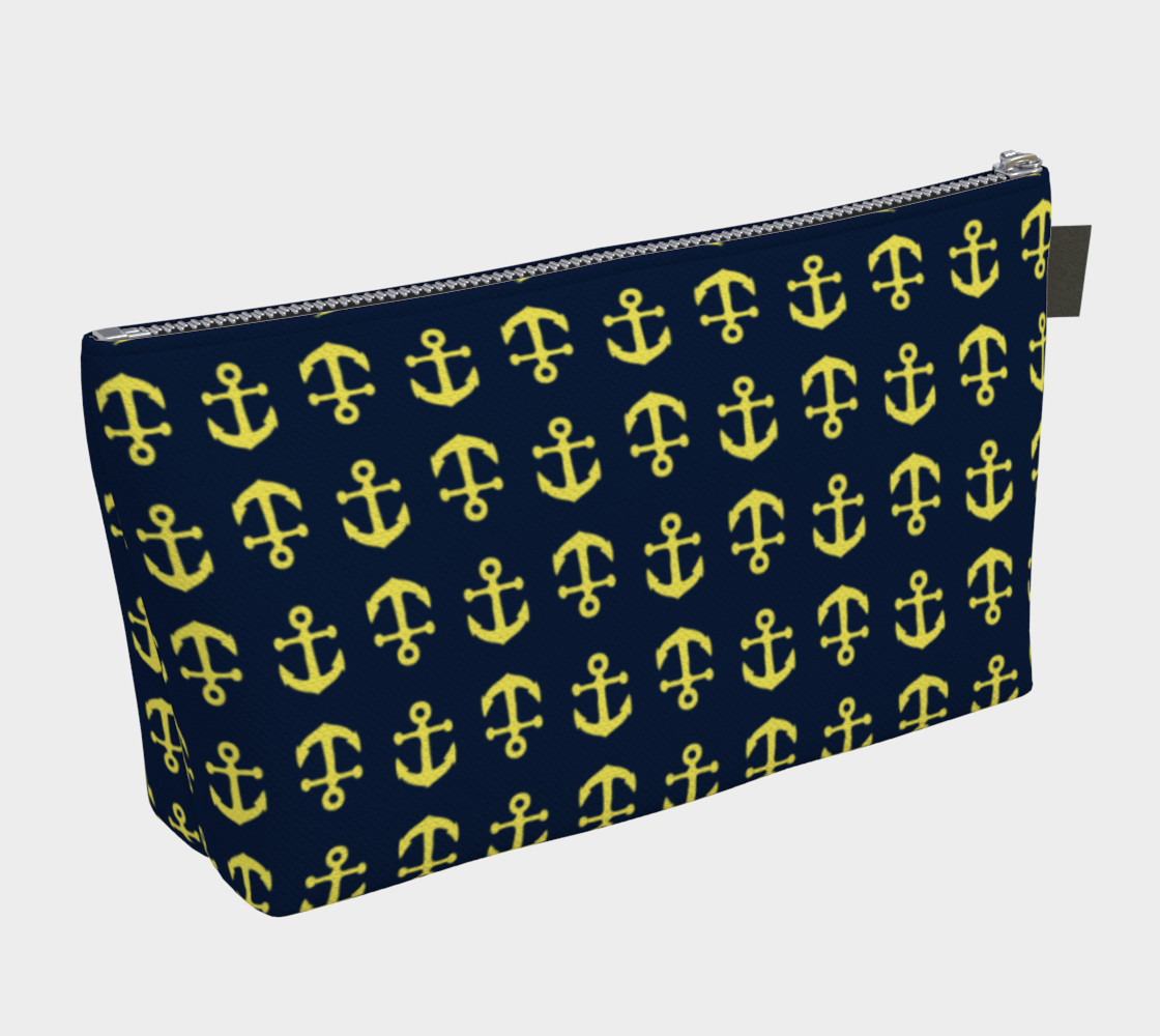 Anchor Toss - Yellow on Navy preview #2