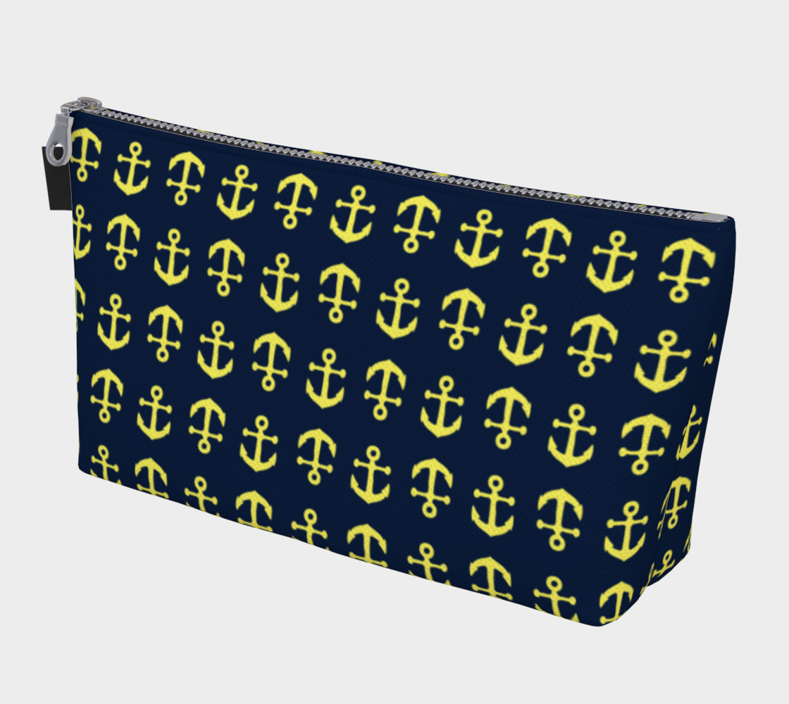 Anchor Toss - Yellow on Navy preview #1