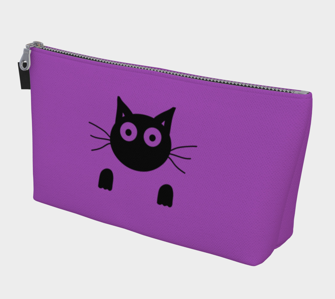 Aperçu de Purple Cat Makeup Bag #1