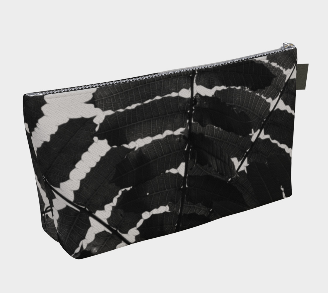 Black and White Leaf Makeup Bag preview #2