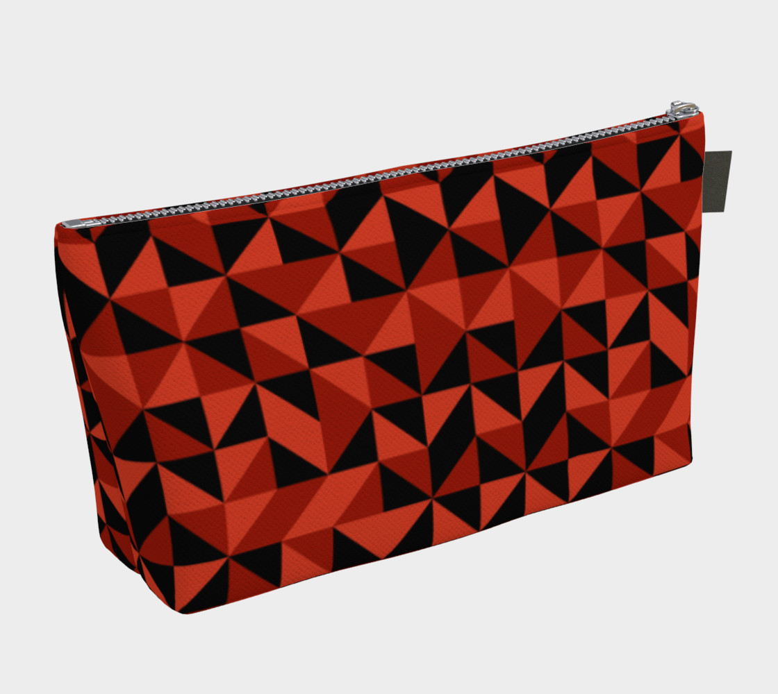Red Triangles Makeup Bag preview #2