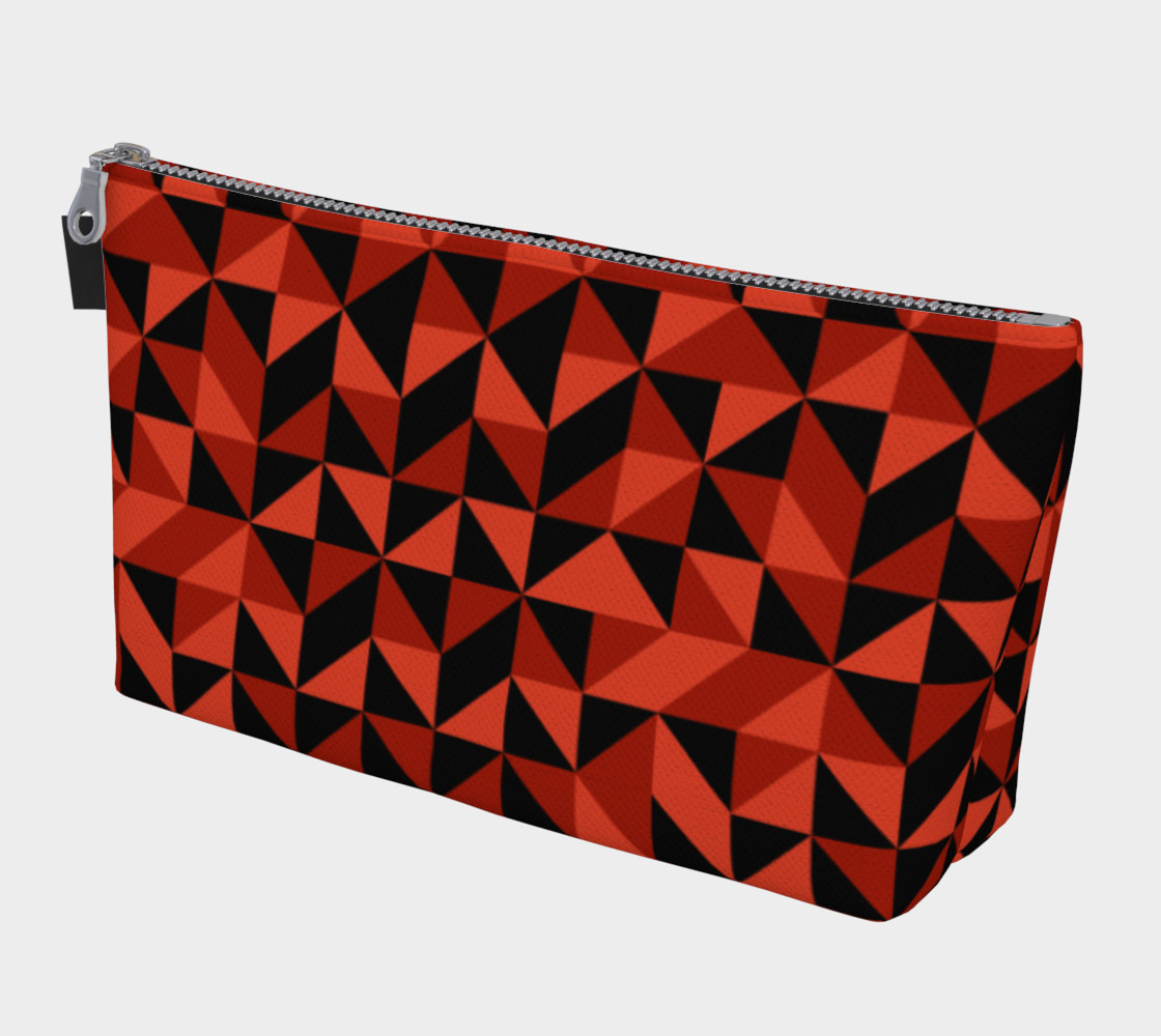 Red Triangles Makeup Bag preview #1