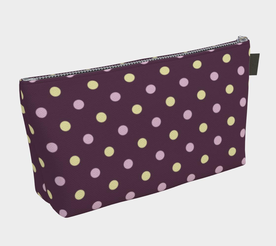 Purple Polka Dots Makeup Bag preview #2