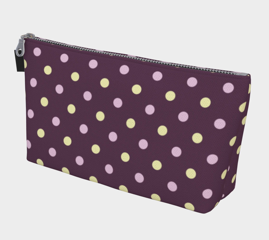 Purple Polka Dots Makeup Bag preview #1