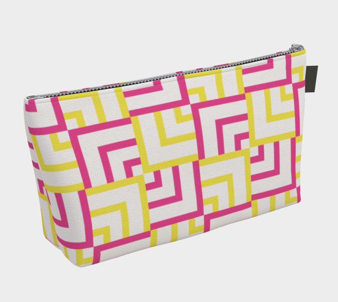Pink and Yellow Squares Makeup Bag preview #2