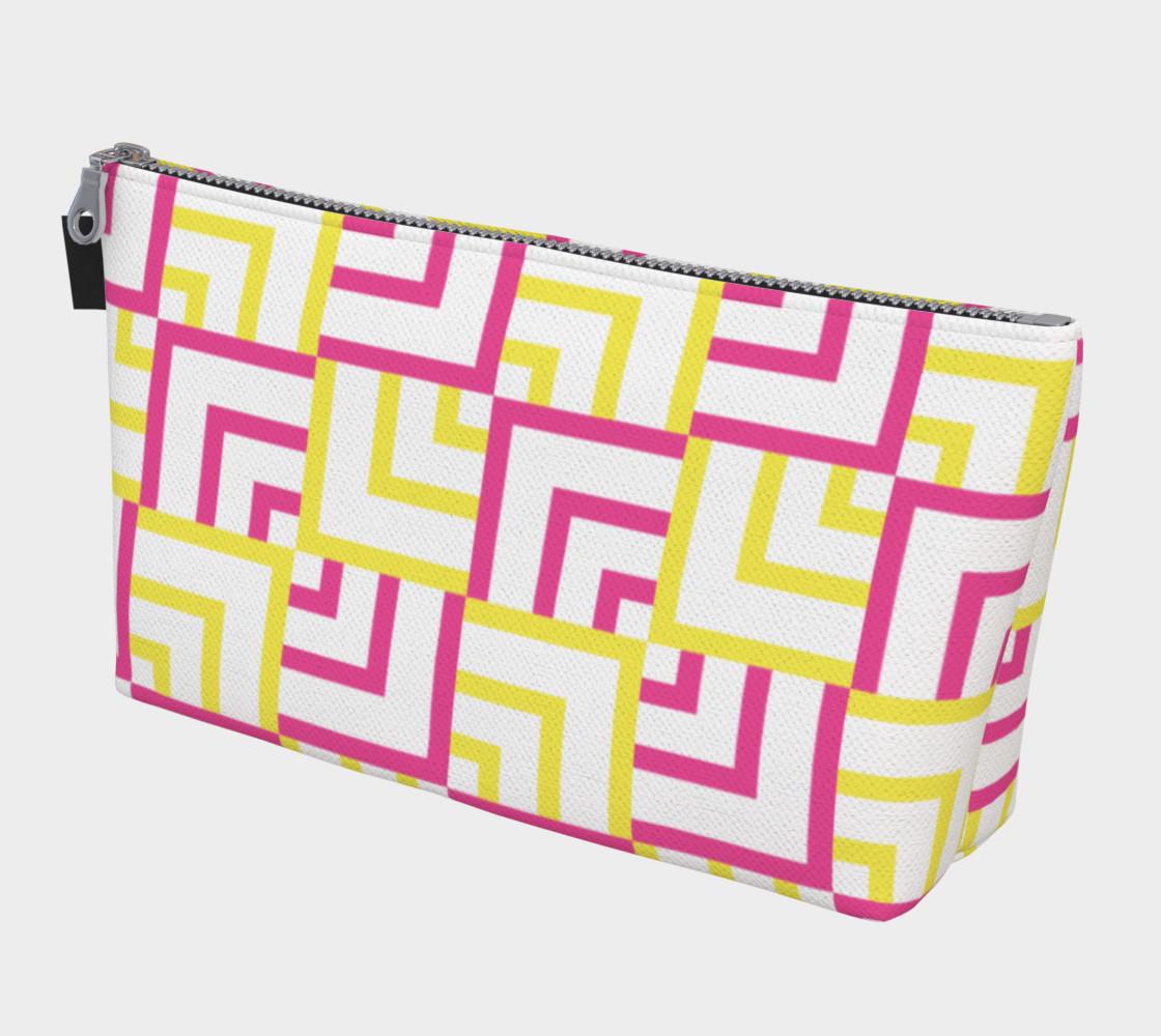 Pink and Yellow Squares Makeup Bag preview #1