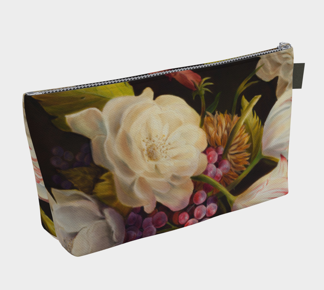 Aperçu de Winter Floral Makeup Bag #2