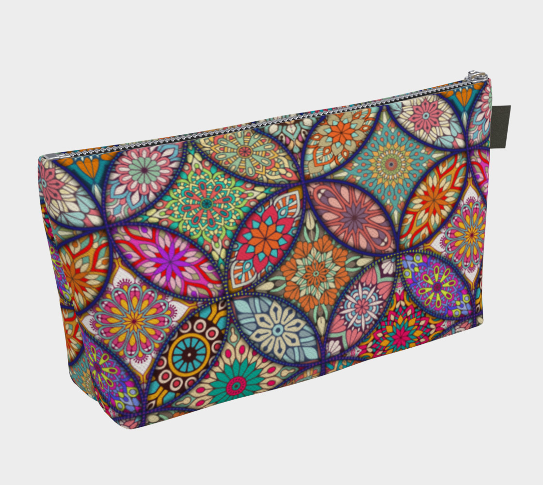 Vibrant Mandalas Makeup Bag preview #2