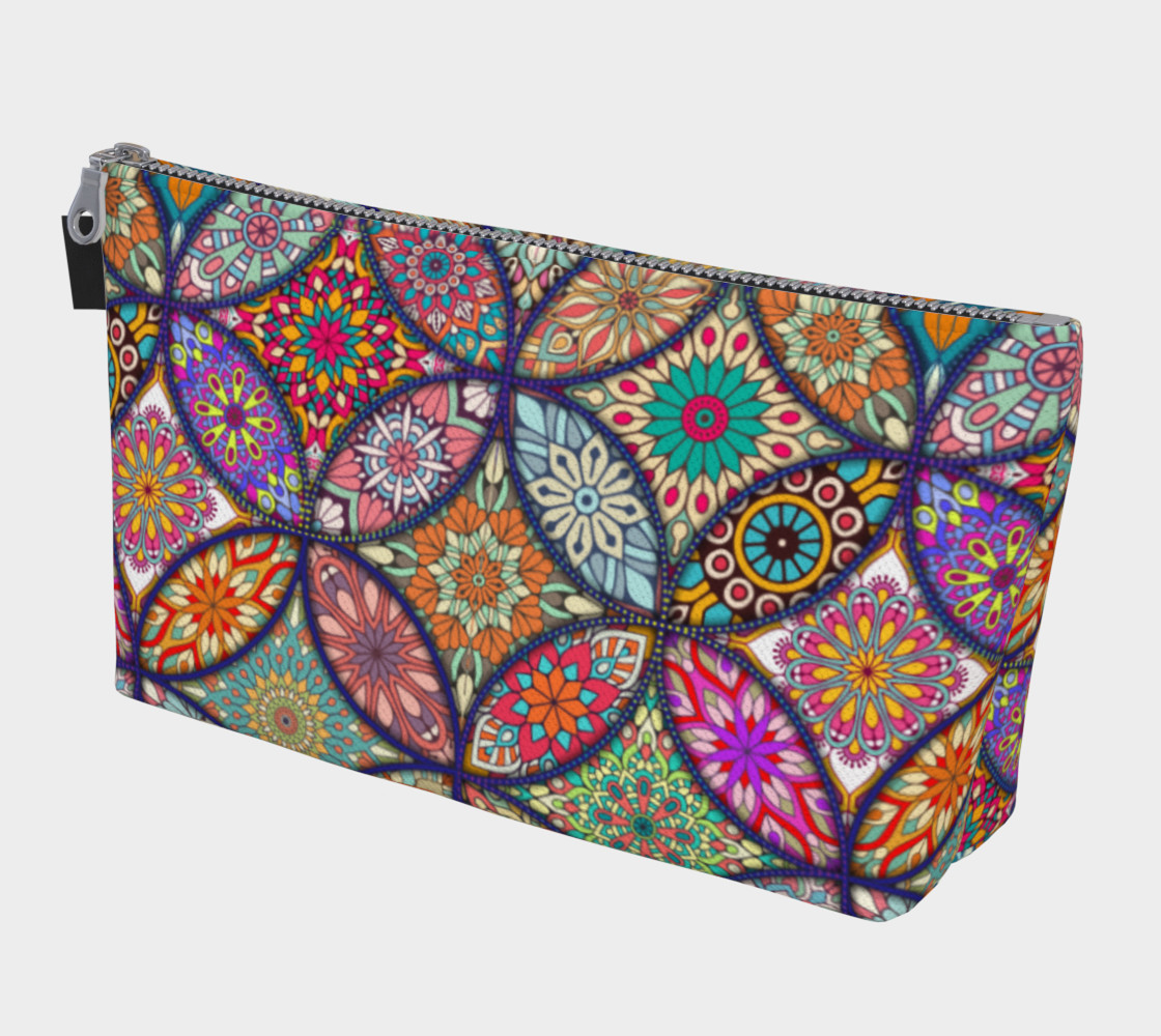 Vibrant Mandalas Makeup Bag preview #1