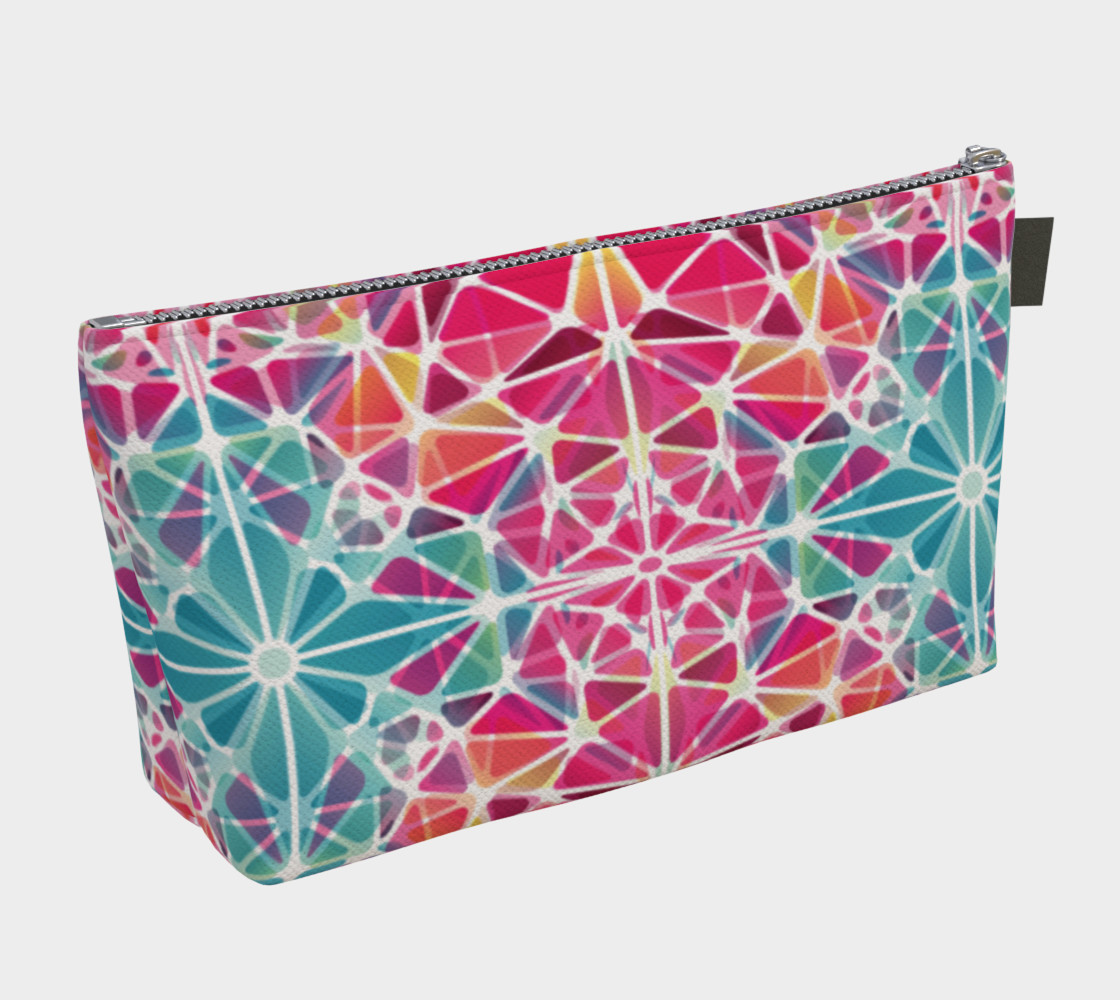 Aperçu de Pink and Blue Kaleidoscope Makeup Bag #2