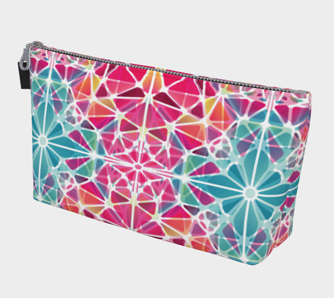 Aperçu de Pink and Blue Kaleidoscope Makeup Bag #1