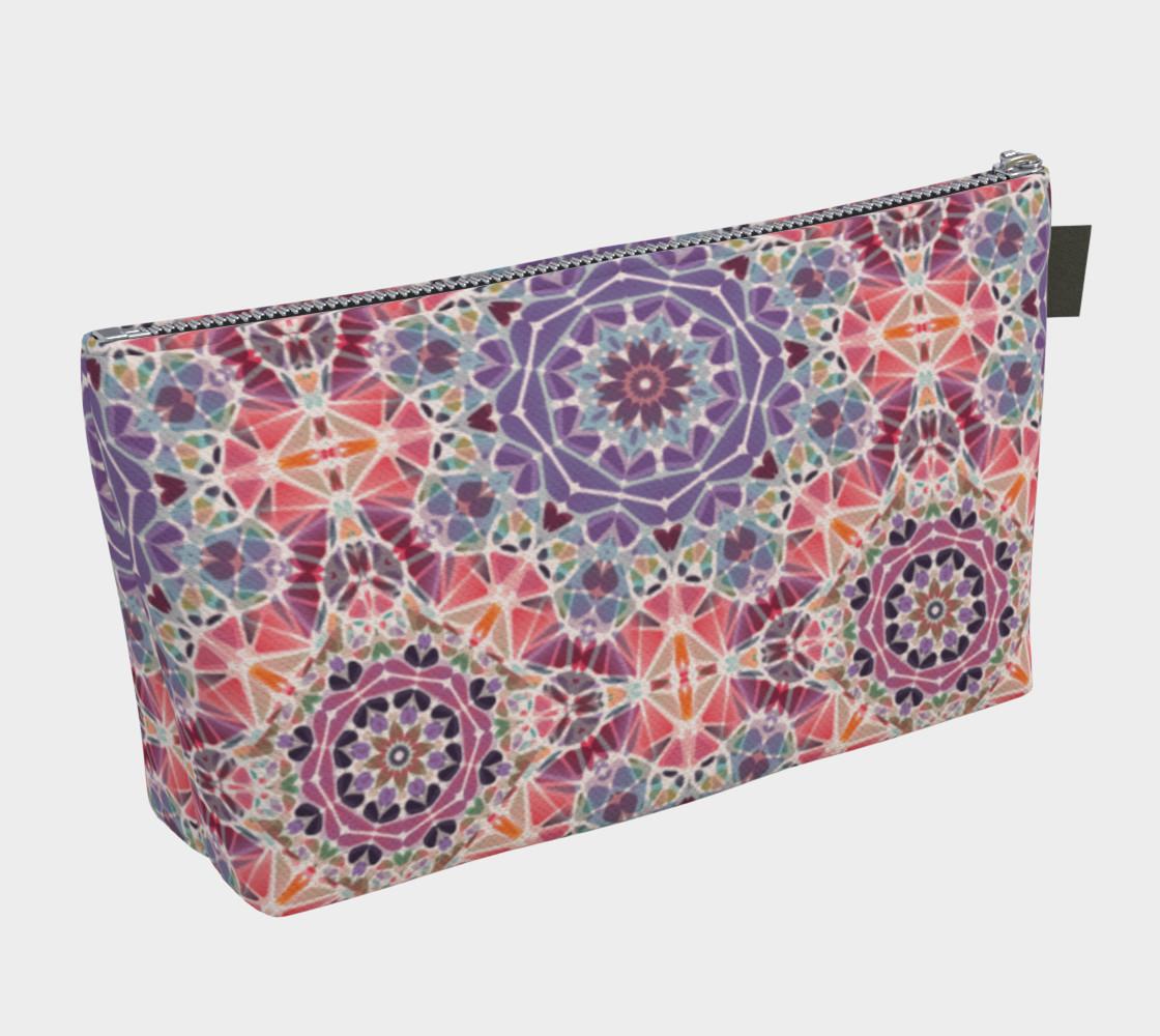 Purple and Pink Kaleidoscope Makeup Bag preview #2