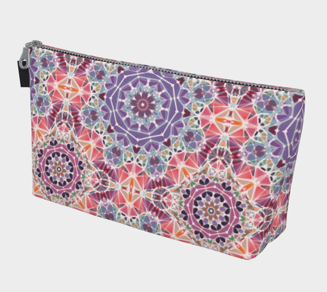 Purple and Pink Kaleidoscope Makeup Bag preview #1