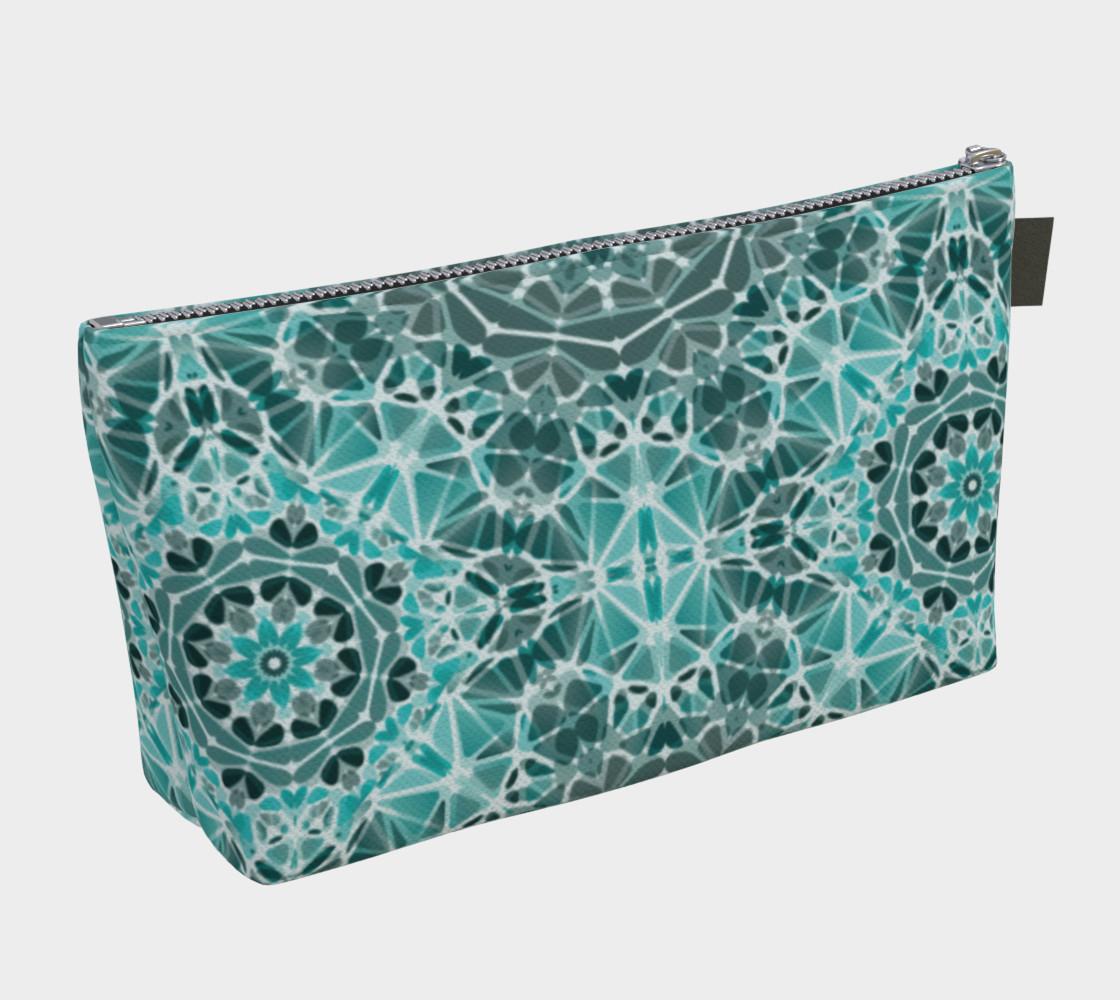 Turquoise & Gray Kaleidoscope Makeup Bag preview #2