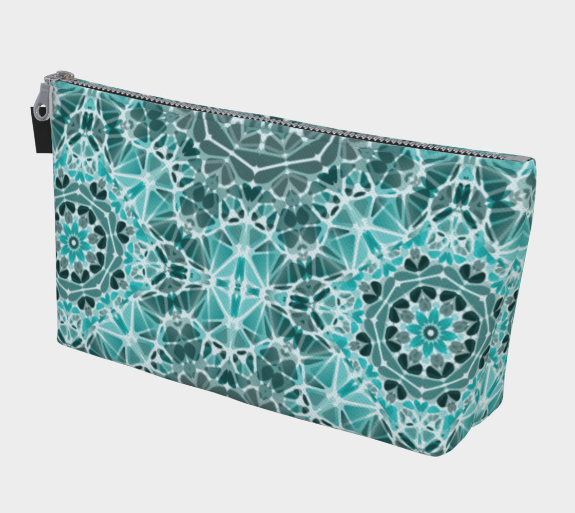 Turquoise & Gray Kaleidoscope Makeup Bag preview #1