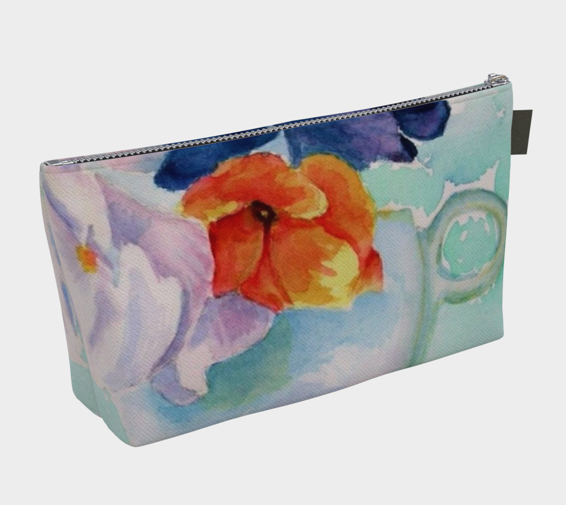 PANSY CUP in WATERCOLOR preview #2