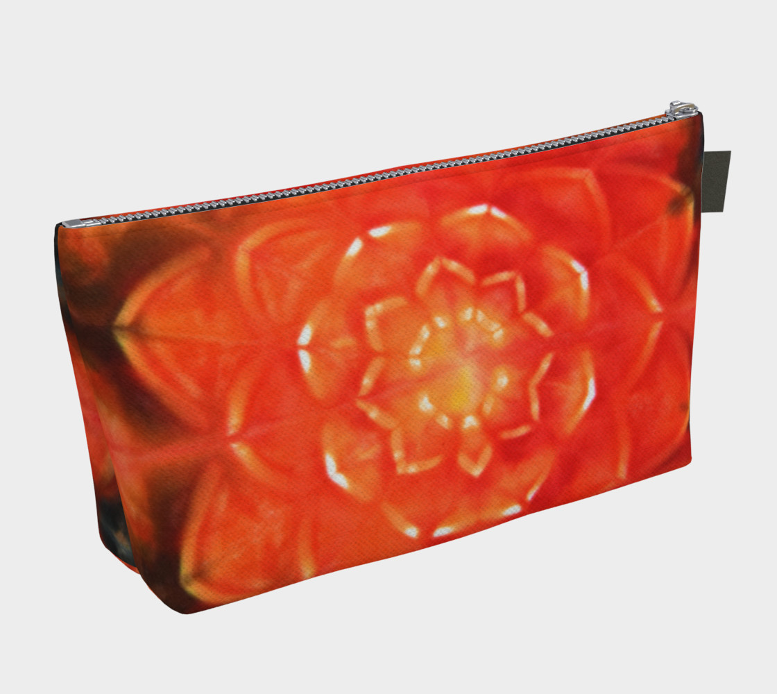 Orange Lotus Makeup Bag thumbnail #3