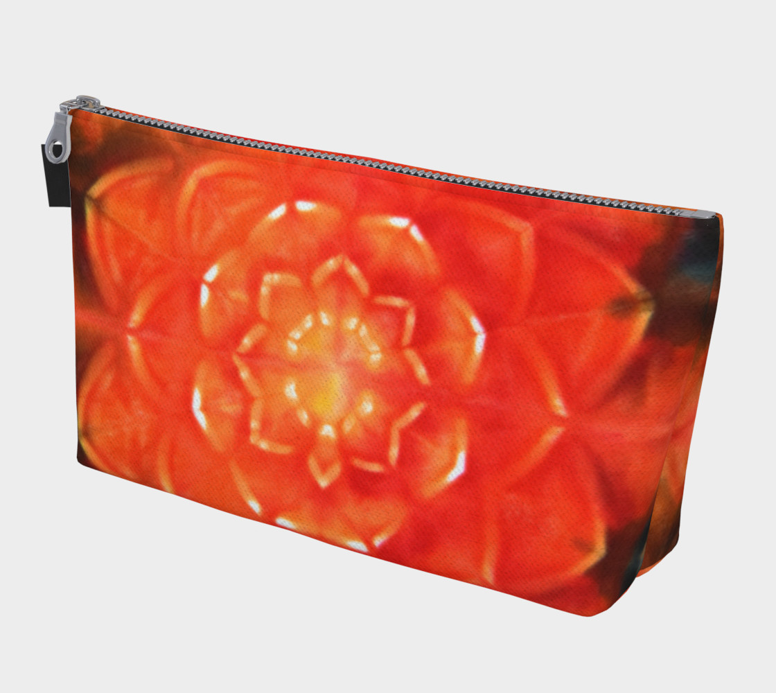 Orange Lotus Makeup Bag 3D preview