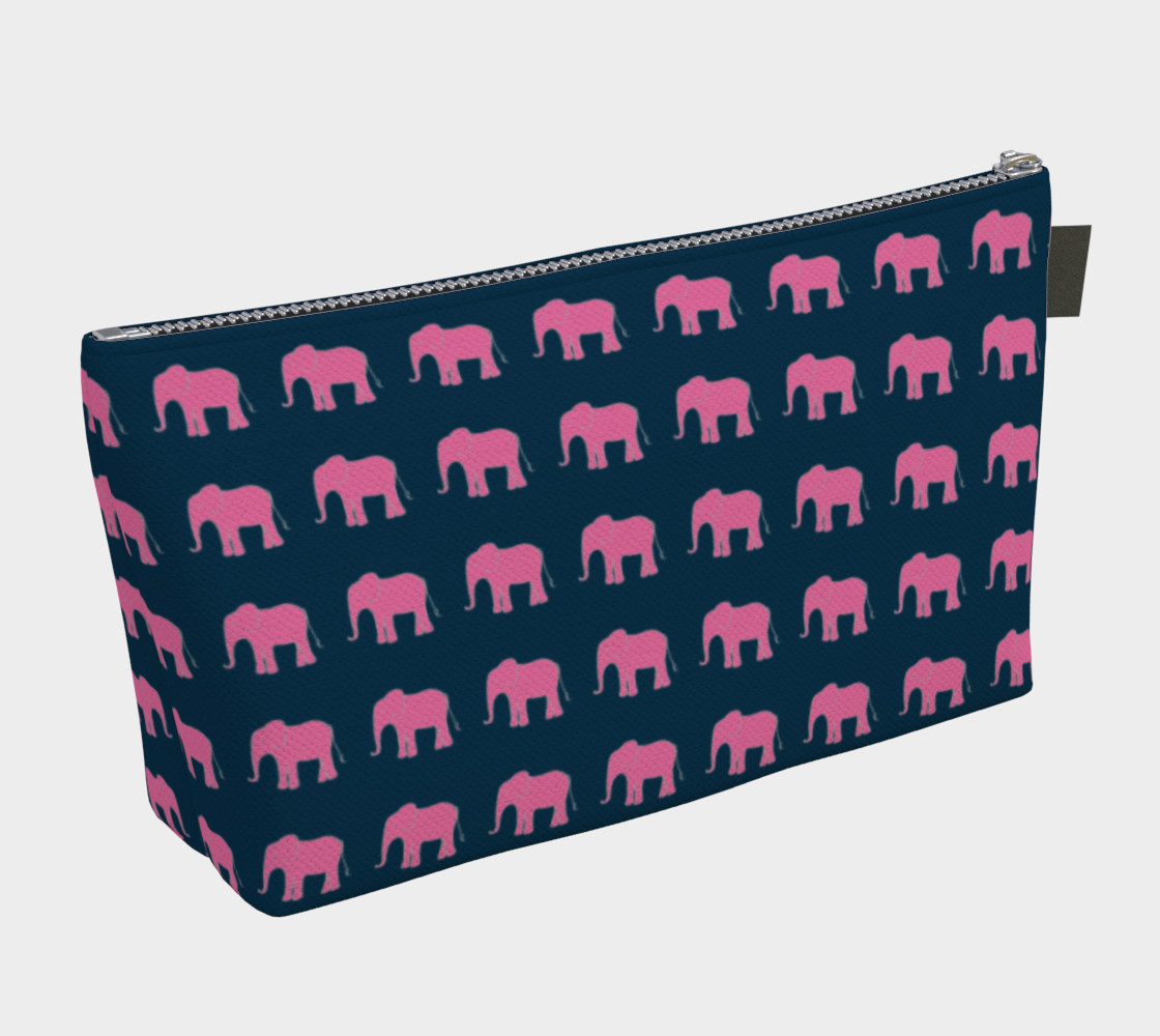 Elephant - Pink on Navy preview #2