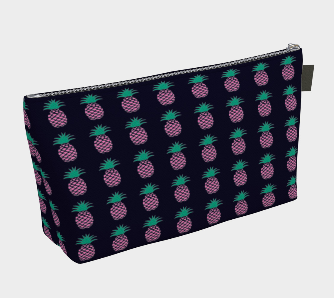 Pineapple - Pink and Green on Navy preview #2